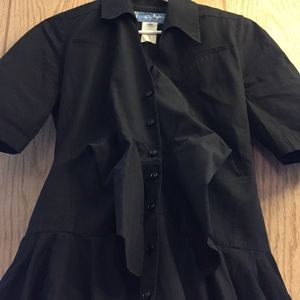 Thierry Mugler Paris Fashion Couture Black Dress